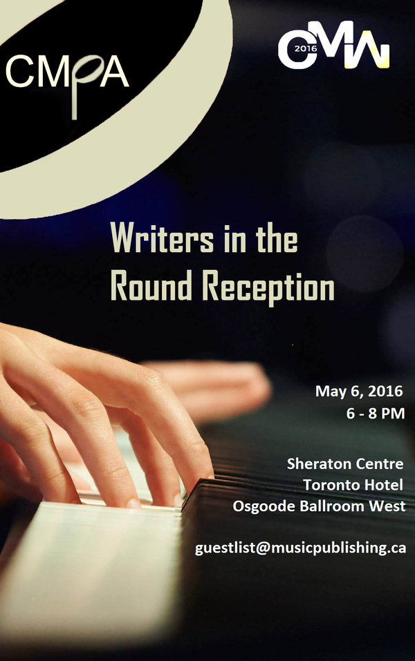 CMPA's Writers in the Round Reception – May 6, 2016