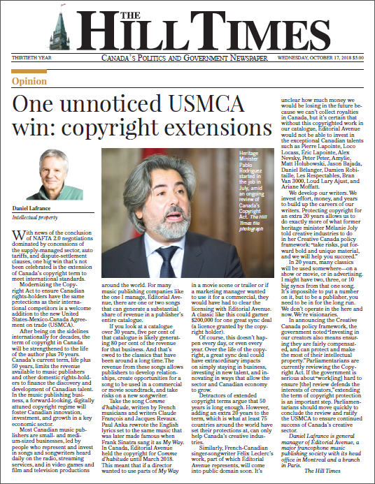 One unnoticed USMCA win: copyright extensions