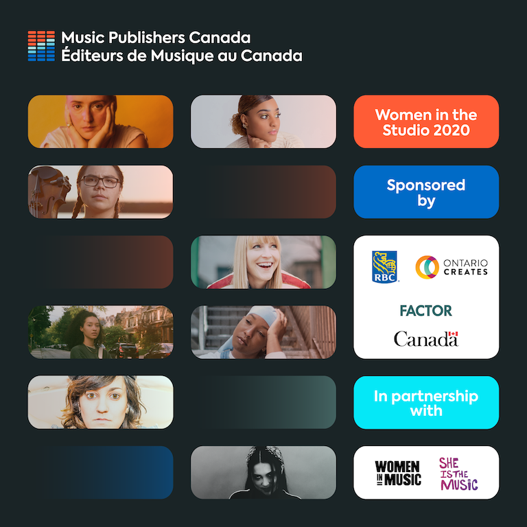 Music Publishers Canada: Introducing the Producers of the Women in the Studio National Accelerator 2020