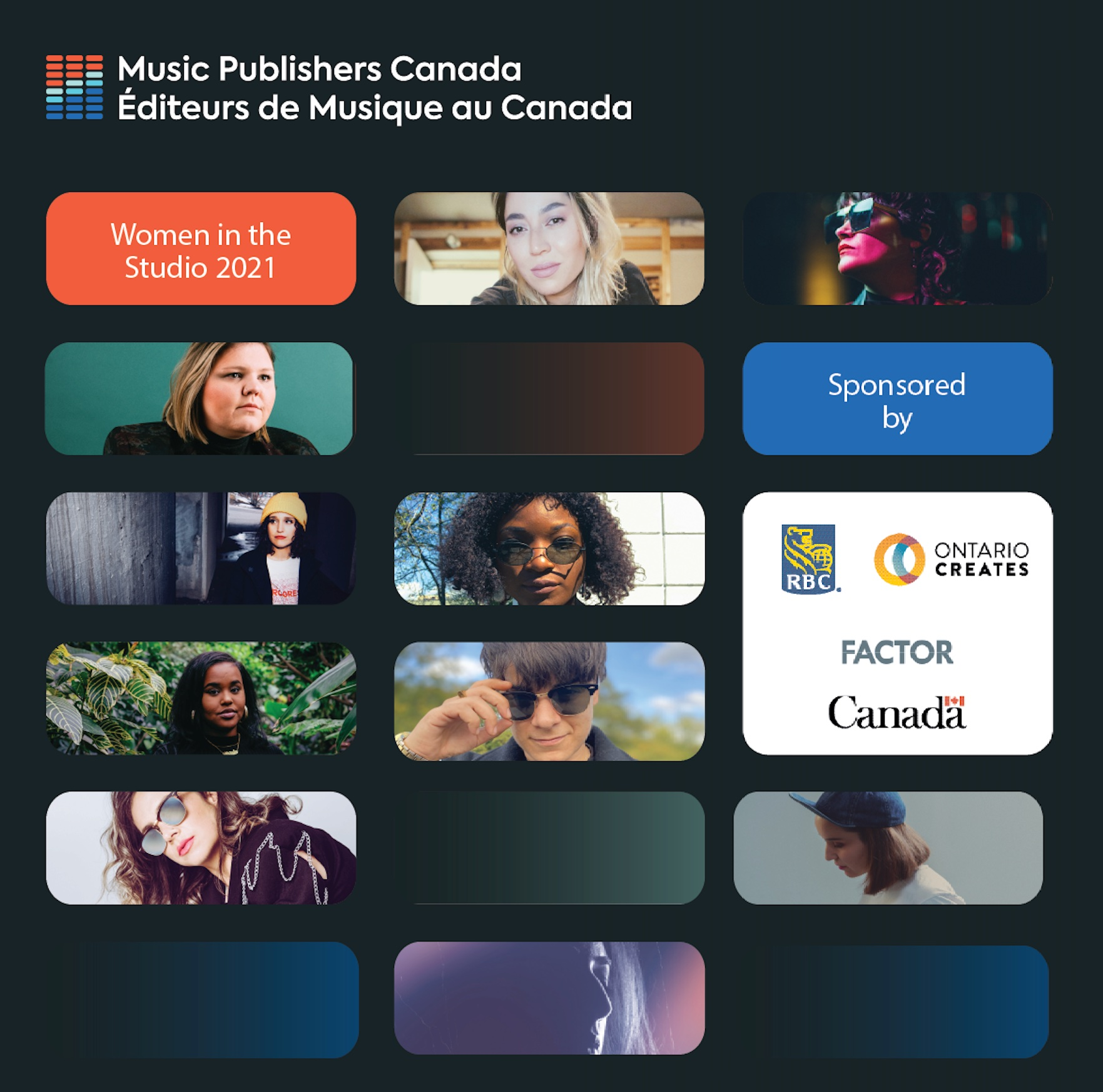 Music Publishers Canada Announces Participants of 2021 Women in the Studio National Accelerator Program